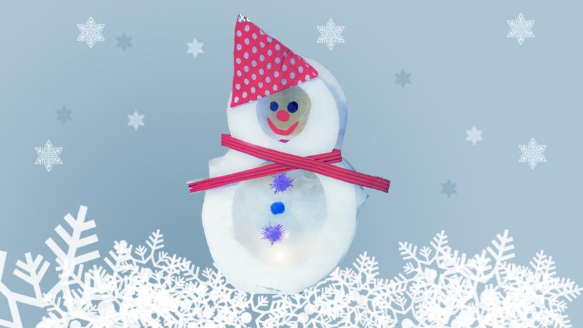 Μπρρρρ! Ήρθε ο χειμώνας... Φωτεινός χιονάνθρωπος