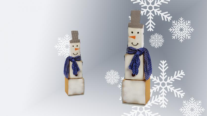 Χιονάνθρωπος από κουτιά