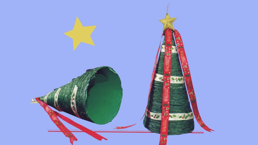 Χριστουγεννιάτικο δέντρο με σπάγκο