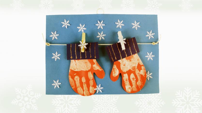 Καδράκι με γάντια