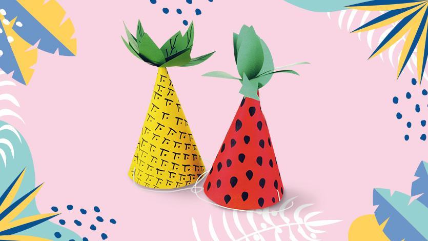 Καπέλα ανανάς και καρπούζι