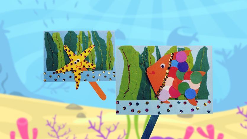 Κάρτα αστερίας ή ψάρι σε βυθό (κούκλα κουκλοθέατρου)