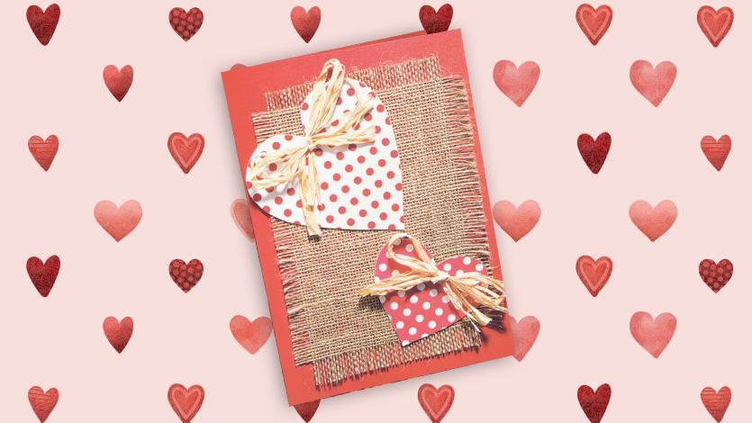 Κάρτα με πουά καρδιές