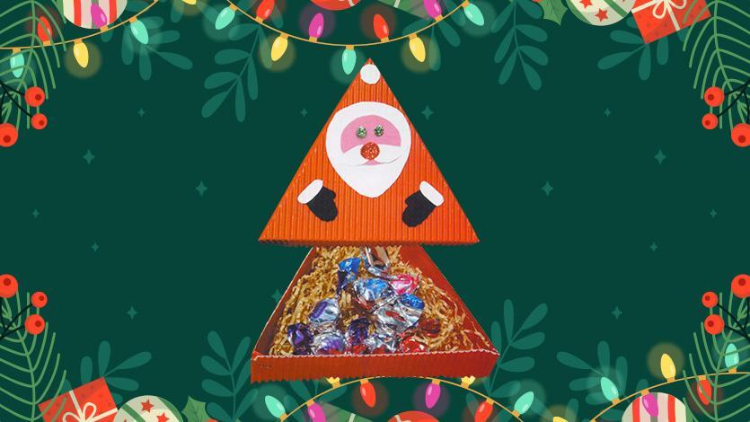 Κουτί με λιχουδιές για τα Χριστούγεννα