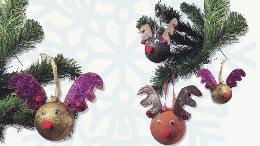 Χριστουγεννιάτικες μπάλες τάρανδοι