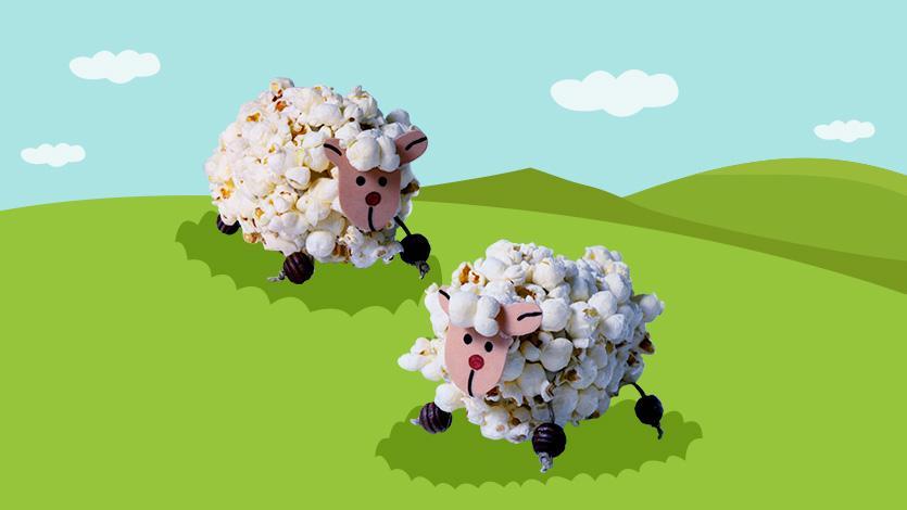 Μαλλιαρό πρόβατο από ποπ κορν