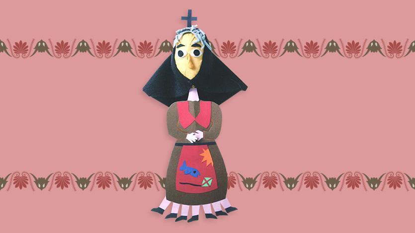 Κούκλα μαρότ «Η κυρά Σαρακοστή»