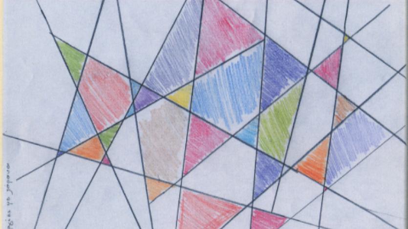 Ζωγραφική με καμπύλες και ζιγκ-ζαγκ γραμμές