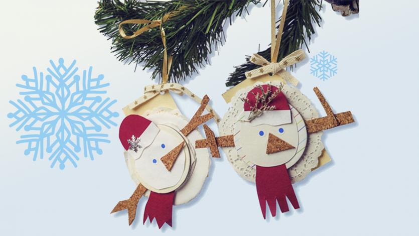 Χριστουγεννιάτικα στολίδια χιονάνθρωποι