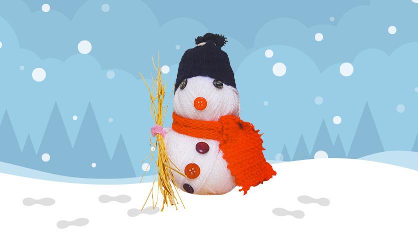 Χιονάνθρωπος από μαλλί