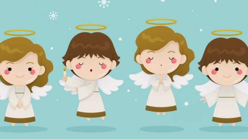 Παιχνίδι γρίφων με έργα ζωγραφικής για τους αγγέλους των Χριστουγέννων