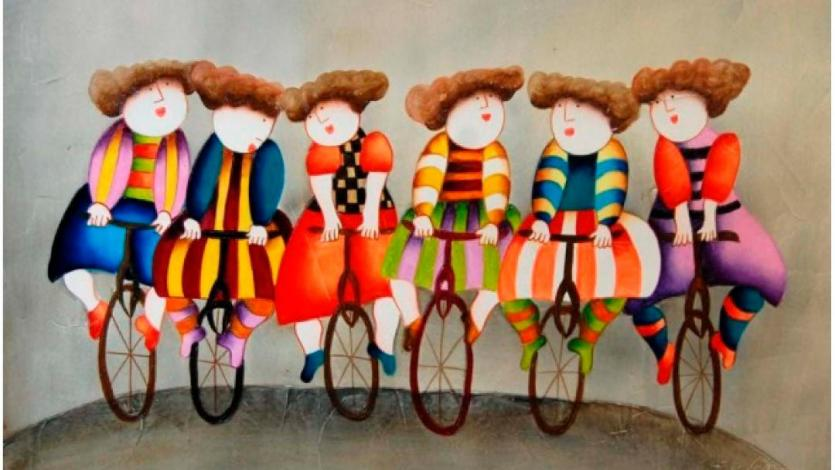 Ο Ντετέκτιβ της τέχνης κάνει ποδήλατο